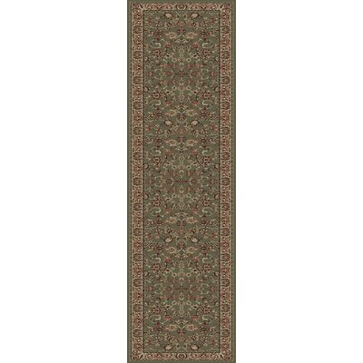 Heritage Elegant Keshan Sage Area Rug Rug Size: Runner 27 x 14