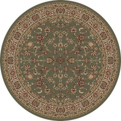 Heritage Elegant Keshan Sage Area Rug Rug Size: Round 8