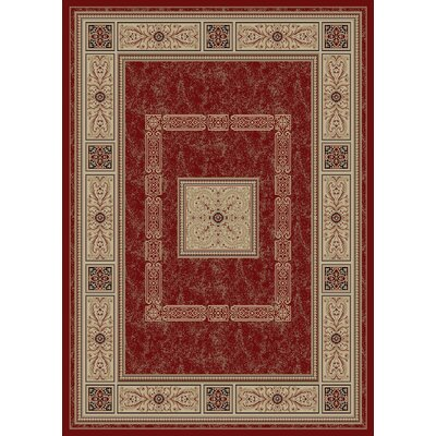 Heritage Ancient Empire Claret Area Rug Rug Size: 53 x 77
