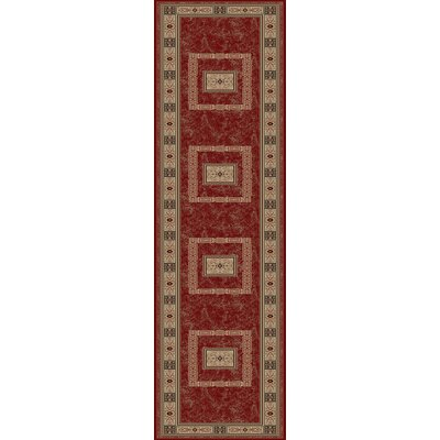 Heritage Ancient Empire Claret Area Rug Rug Size: Runner 27 x 91