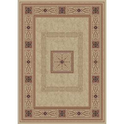 Heritage Ancient Empire Ivory Area Rug Rug Size: 53 x 77