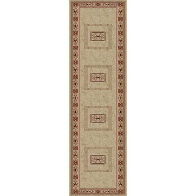 Heritage Ancient Empire Ivory Area Rug Rug Size: Runner 27 x 910