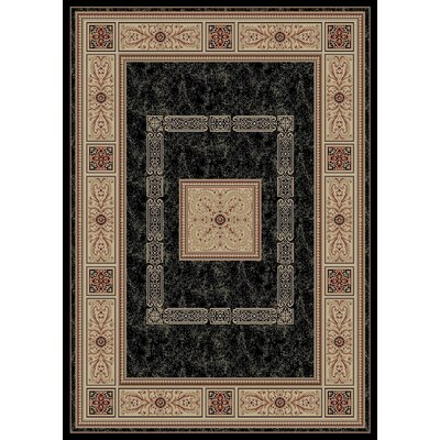 Heritage Ancient Empire Ebony Area Rug Rug Size: 53 x 77