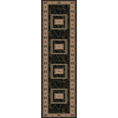 Heritage Ancient Empire Ebony Area Rug Rug Size: Runner 27 x 91