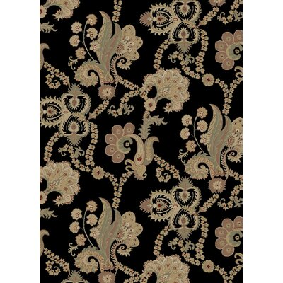 Heritage Casual Elegance Ebony Area Rug Rug Size: Runner 27 x 91