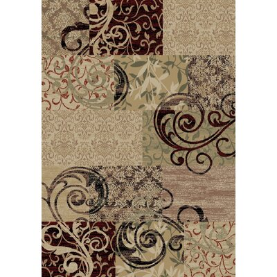 Heritage Brocade Gold Area Rug Rug Size: 710 x 910
