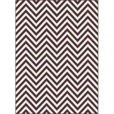 Urban Chevron Brown/White Area Rug Rug Size: Rectangle 53 x 73