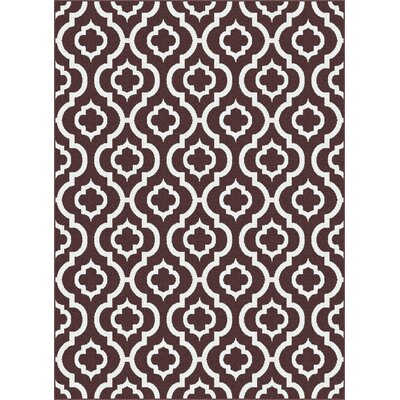 Urban Contemporary Medallion Brown Area Rug Rug Size: Rectangle 53 x 73