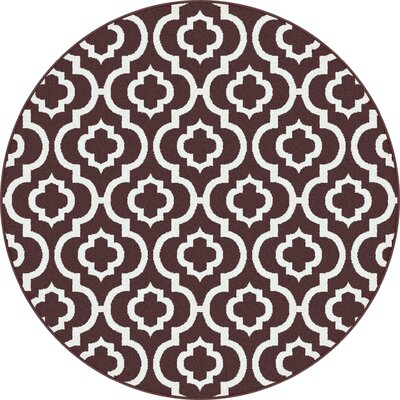 Urban Contemporary Medallion Brown Area Rug Rug Size: Round 53