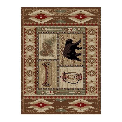 American Destinations Brown Area Rug Rug Size: Rectangle 22 x 33
