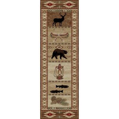 American Destinations Brown Area Rug Rug Size: 23 x 77
