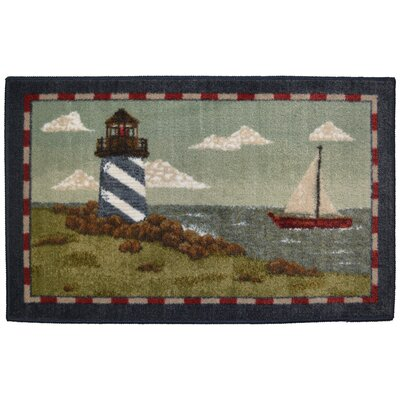 Cozy Cabin Rocky Bay Lighthouse Kitchen Mat Rug Size: 18 x 210