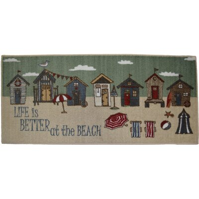 Cozy Cabin Better at the Beach Kitchen Mat Rug Size: 26 x 310