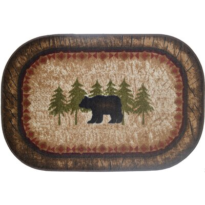 Cozy Cabin Birch Bear Kitchen Mat