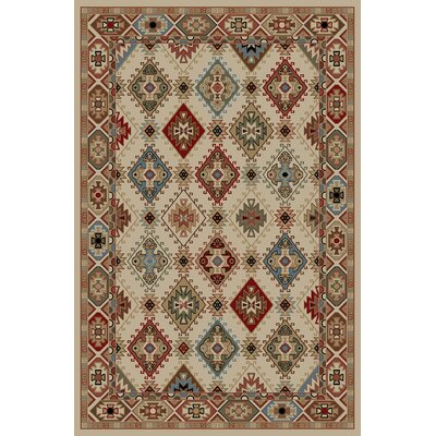 Lodge King Ivory Area Rug Rug Size: 53 x 77