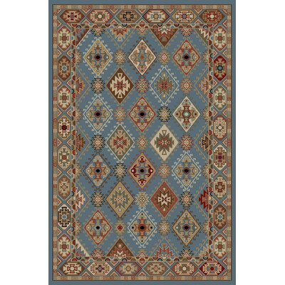 Lodge King Blue Area Rug Rug Size: 53 x 77