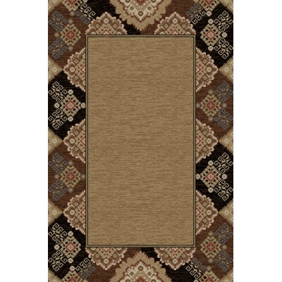 Lodge King Black Area Rug Rug Size: 53 x 77