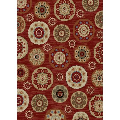 Timeless Deco Pinwheel Claret Area Rug Rug Size: Rectangle 8 x 10