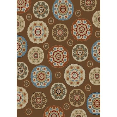 Timeless Deco Pinwheel Chocolate Area Rug Rug Size: Rectangle 8 x 10