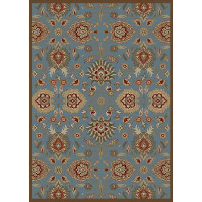 Timeless Blue Viola Area Rug Rug Size: Rectangle 8 x 10