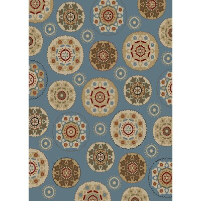 Timeless Blue Deco Pinwheel Area Rug Rug Size: Rectangle 8 x 10