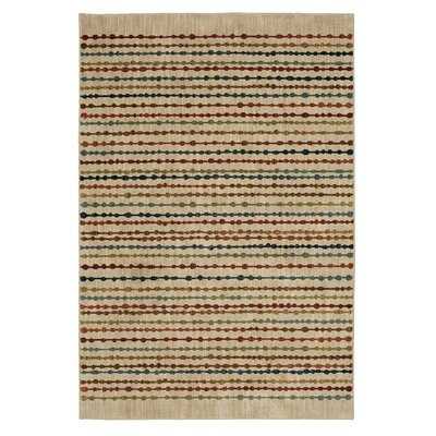 Finely Beige Area Rug Rug Size: 5'3