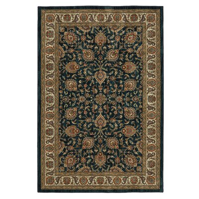 Finely Royal Blue Area Rug Rug Size: 5'3