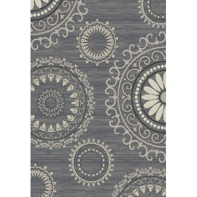 Stratford Kaleidescope Gray Area Rug Rug Size: Rectangle 53 x 77