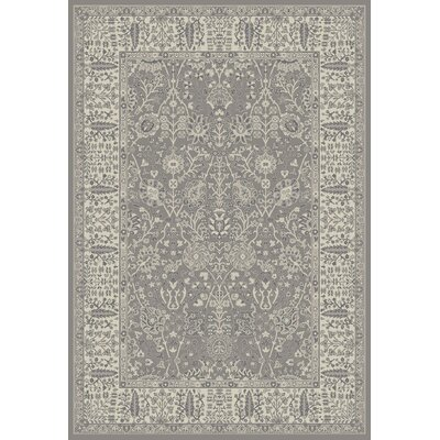 Stratford Garden Gray Area Rug Rug Size: Rectangle 710 x 910
