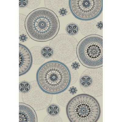 Stratford Orbit Ivory Area Rug Rug Size: Rectangle 53 x 77