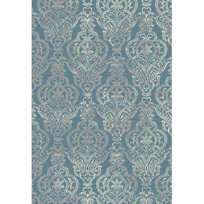 Stratford Victoria Blue Area Rug Rug Size: Rectangle 53 x 77