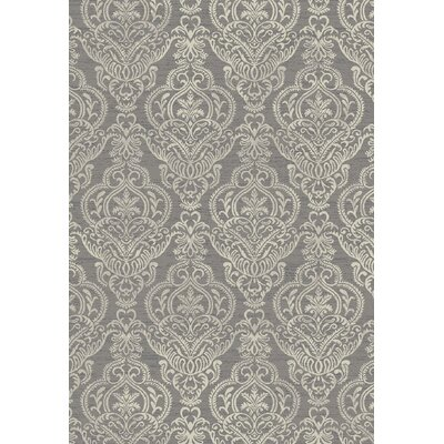 Stratford Victoria Gray Area Rug Rug Size: Rectangle 53 x 77