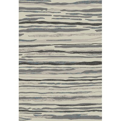 Stratford Waterfall Gray Area Rug Rug Size: 53 x 77