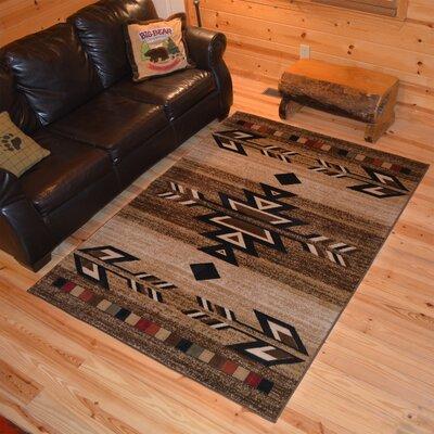 Los Gatos Ebony Area Rug Rug Size: 53 x 73