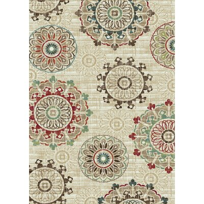 Brighton Cream Area Rug Rug Size: 53 x 73