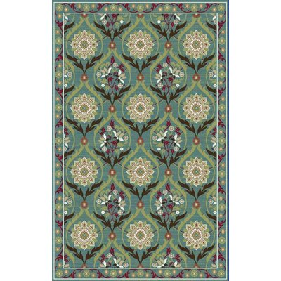 Brighton Turquoise Area Rug Rug Size: 53 x 73