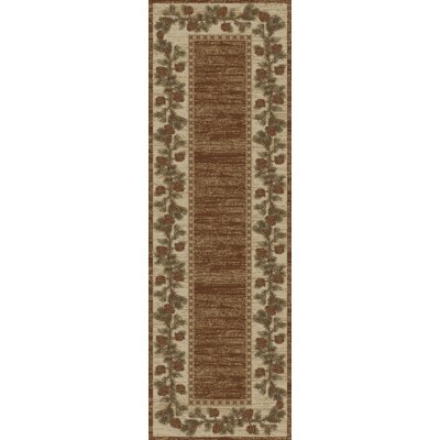 Hearthside Mountain View Brown Area Rug Rug Size: 53 x 73