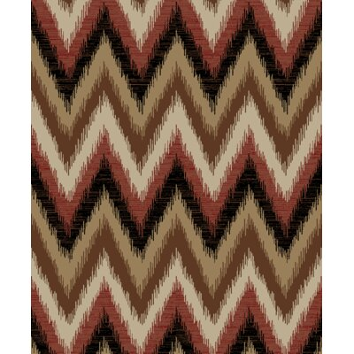 Hearthside Threaded Flames Lodge Multi Area Rug Rug Size: 53 x 73