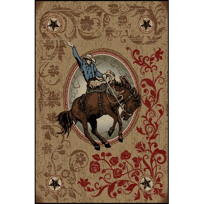 American Destinations Boulder Rodeo Area Rug Rug Size: 53 x 73