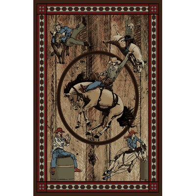 American Destinations Jackson Rodeo Multi Area Rug Rug Size: 710 x 910