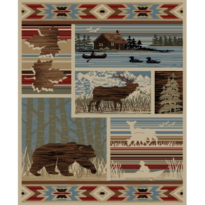 American Destinations Maple Valley Lodge Multi Area Rug Rug Size: 710 x 910