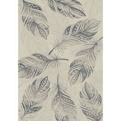 Jeff Feather Cream Area Rug Rug Size: 53 x 73