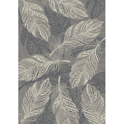 Jeff Feather Gray Area Rug Rug Size: 710 x 910