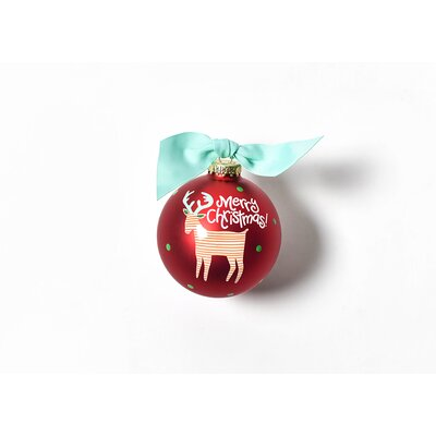 Reindeer Glass Ornament