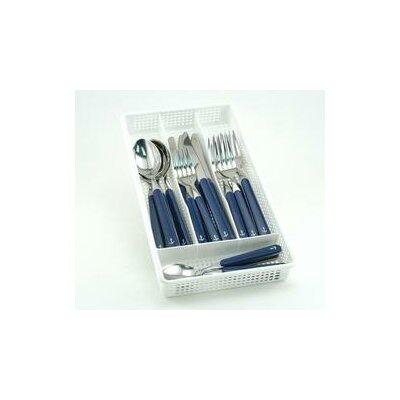 Galleyware  Company Galleyware Company 20 Piece Anchor Plus Storage Tray Flatware Set - Handle Color: Blue