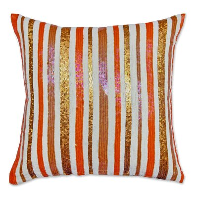 Potpourri Flex Sequin Cotton Throw Pillow