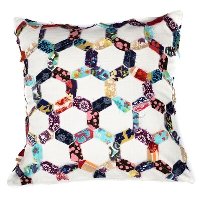 Potpourri Hexagon Honeycomb Patchwork Cotton Throw Pillow