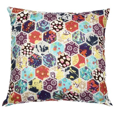 Potpourri Hexagon Patchwork Cotton Throw Pillow