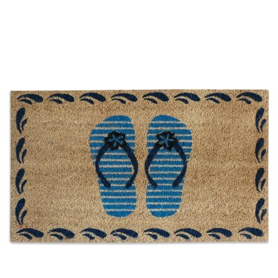 Flip Flops Bleach Printed Doormat