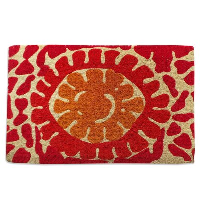 Red Flower Doormat